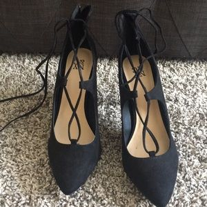 New York & Company Shoes - Tie up black heels.